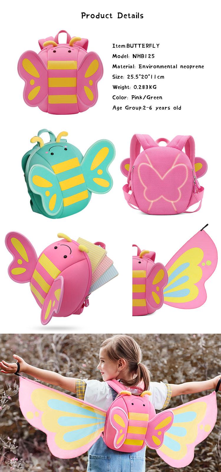 Nohoo Children Products-Girls Backpack kindergarten neoprene backpack for girls