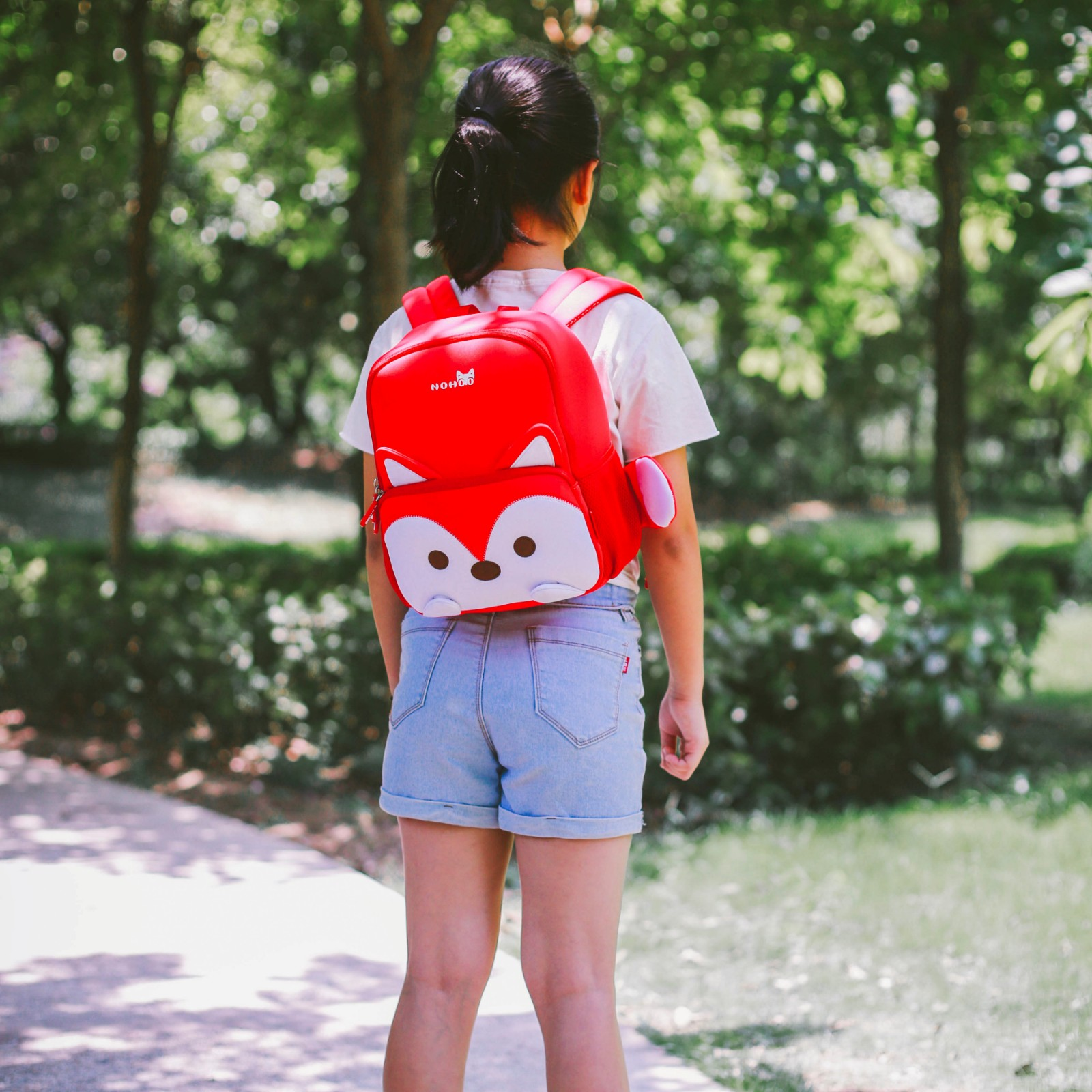 Nohoo Children Products-School Bag For Preschool Child Kids 3d Cartoon Family Backpack-1