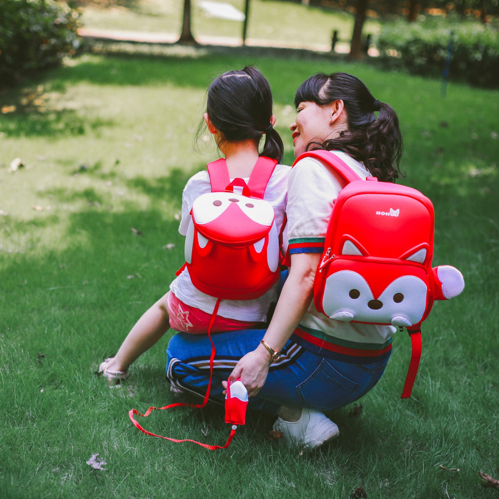 Nohoo Children Products-School Bag For Preschool Child Kids 3d Cartoon Family Backpack-5