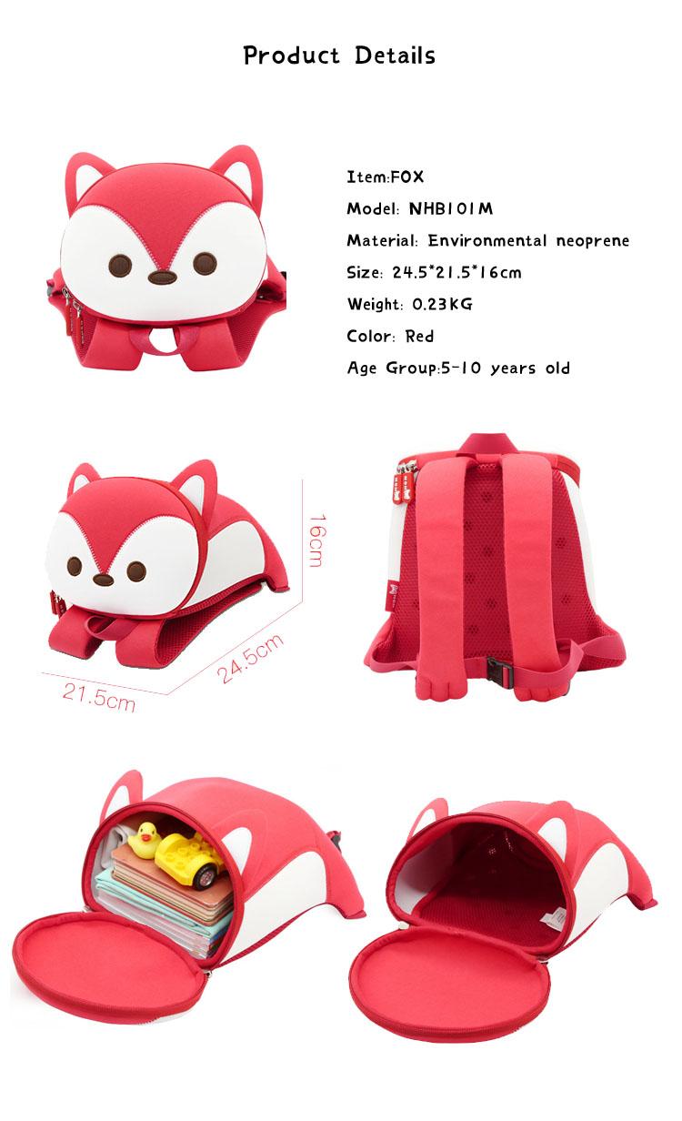 Nohoo Children Products-Top Quality Neoprene Child Backpack Kindergarten School Hiking Bag