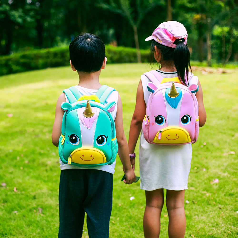 Nohoo Children Products-New Design Soft Children Backpacks 3d Animal Unicorn Kids-1