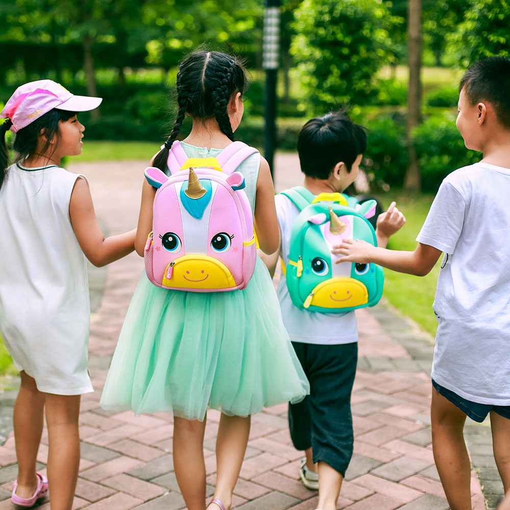 Nohoo Children Products-New Design Soft Children Backpacks 3d Animal Unicorn Kids-2