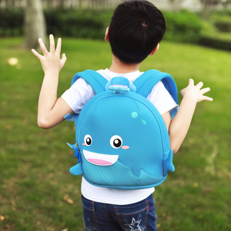 Nohoo Children Products-Manufacturer China Neoprene Children Bag Lovely Whale Backpack-4
