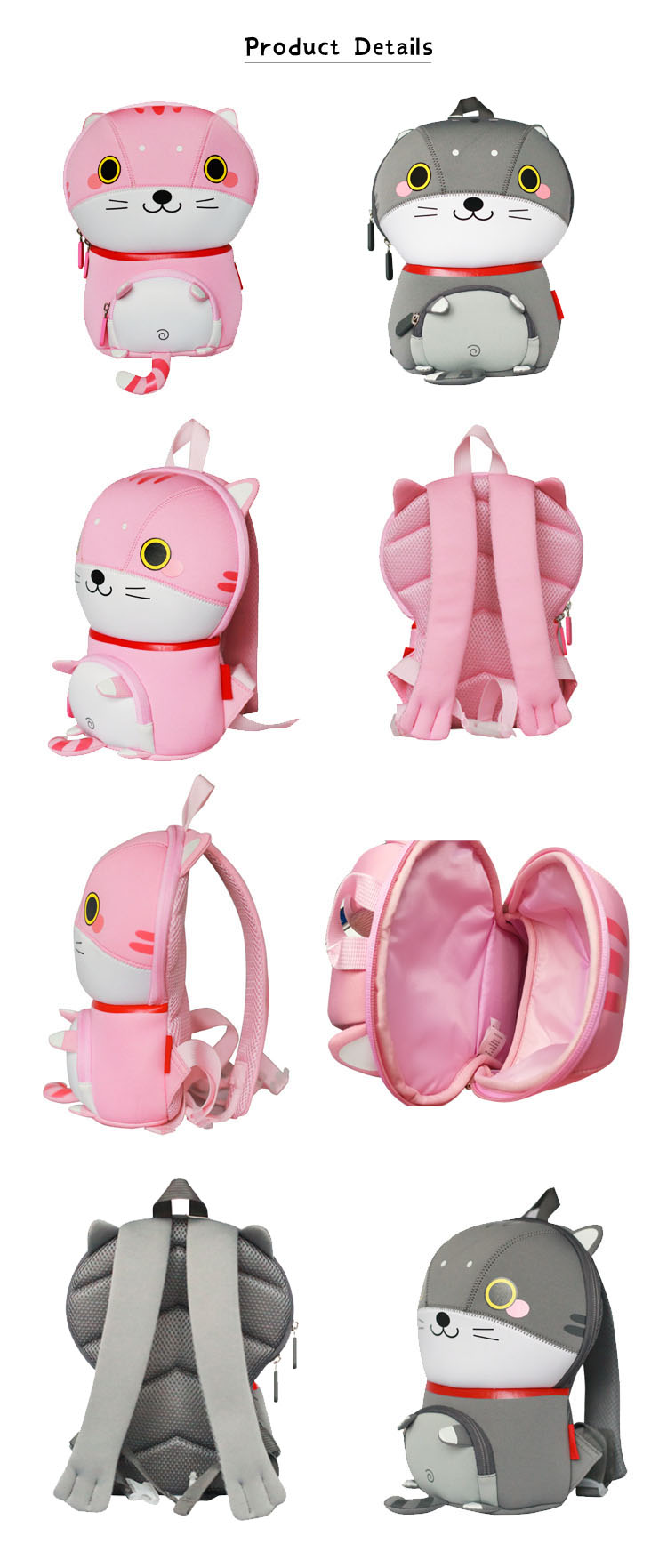 Nohoo Children Products-Wholesale Eco-friendly Customized Kids Animal School Backpack Bag