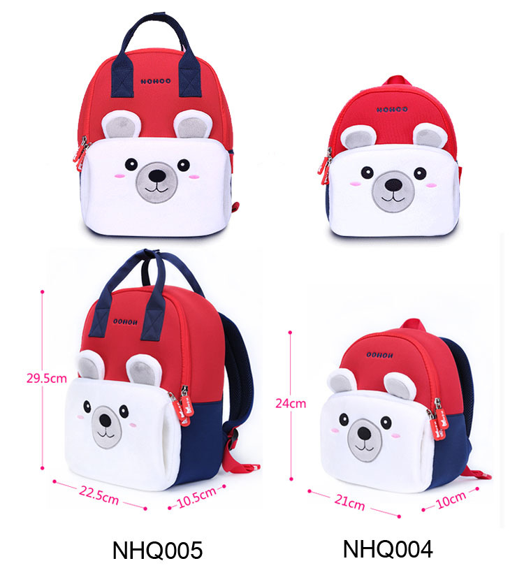 Nohoo Children Products-Parent-child Cartoon Backpack Lightweight Zoo Animal Backpack-5