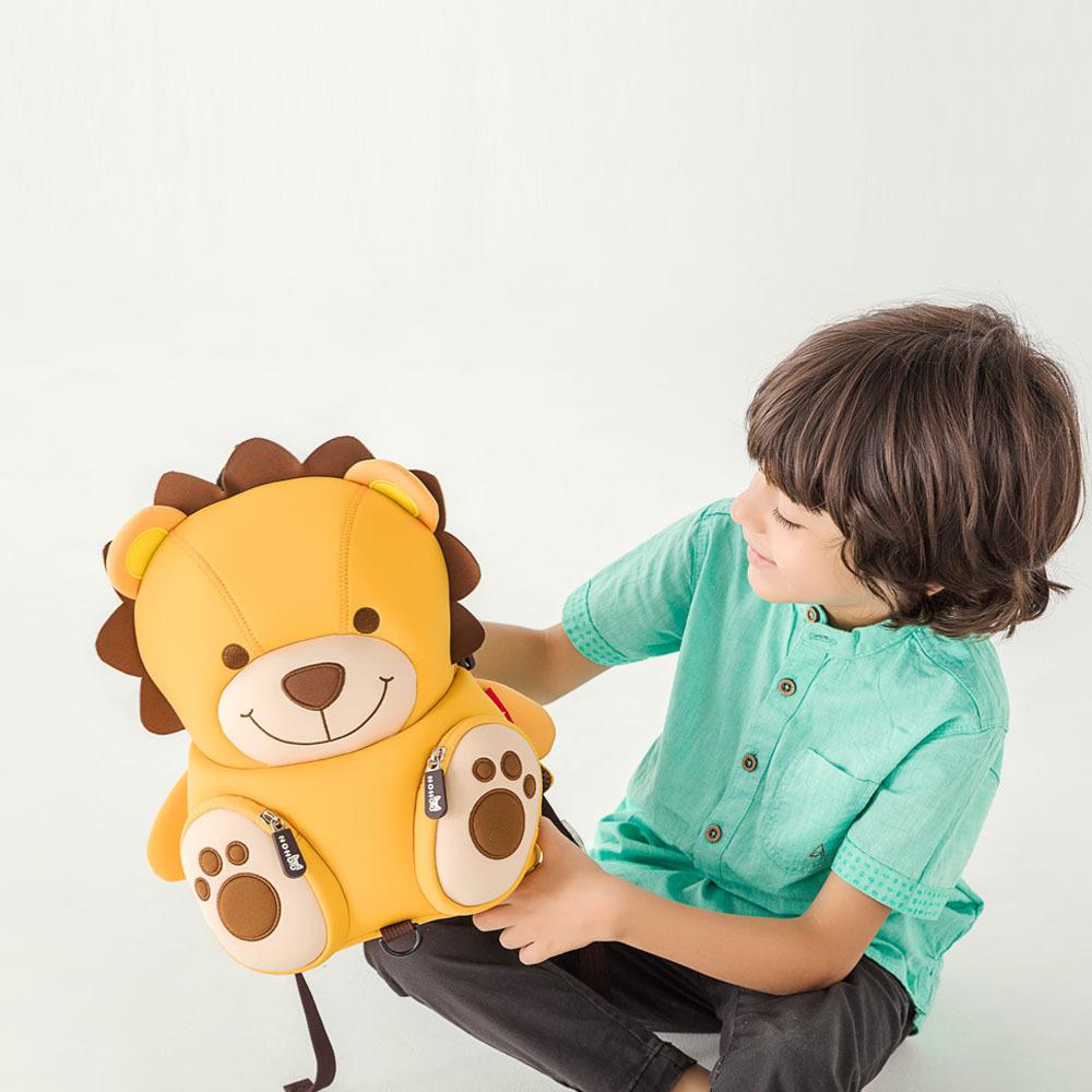 Nohoo Children Products-Nh080 Neoprene Lovely Lion Cartoon Custom Children Rucksacks-4