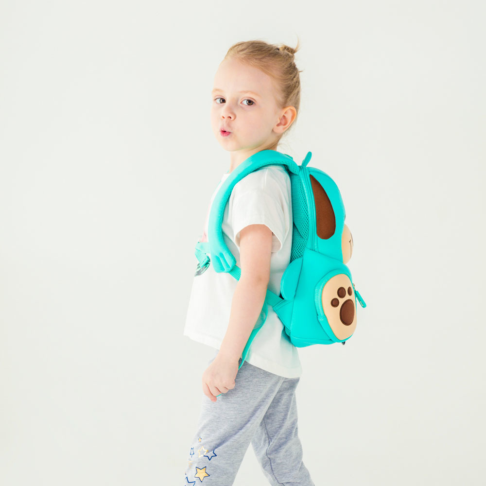 Nohoo Children Products-Hot Sale Soft Cute Blue Dog Kids Zoo Animal Backpack Manufacture-5