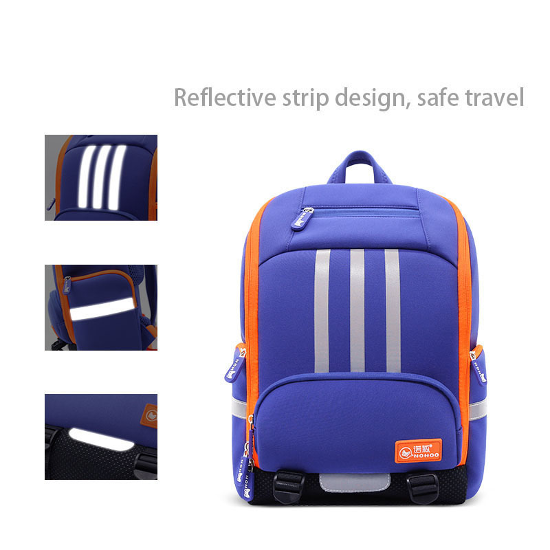 Nohoo Children Products-Nh038 Eco-friendly Large Capacity Student Backpack With Reflector-4