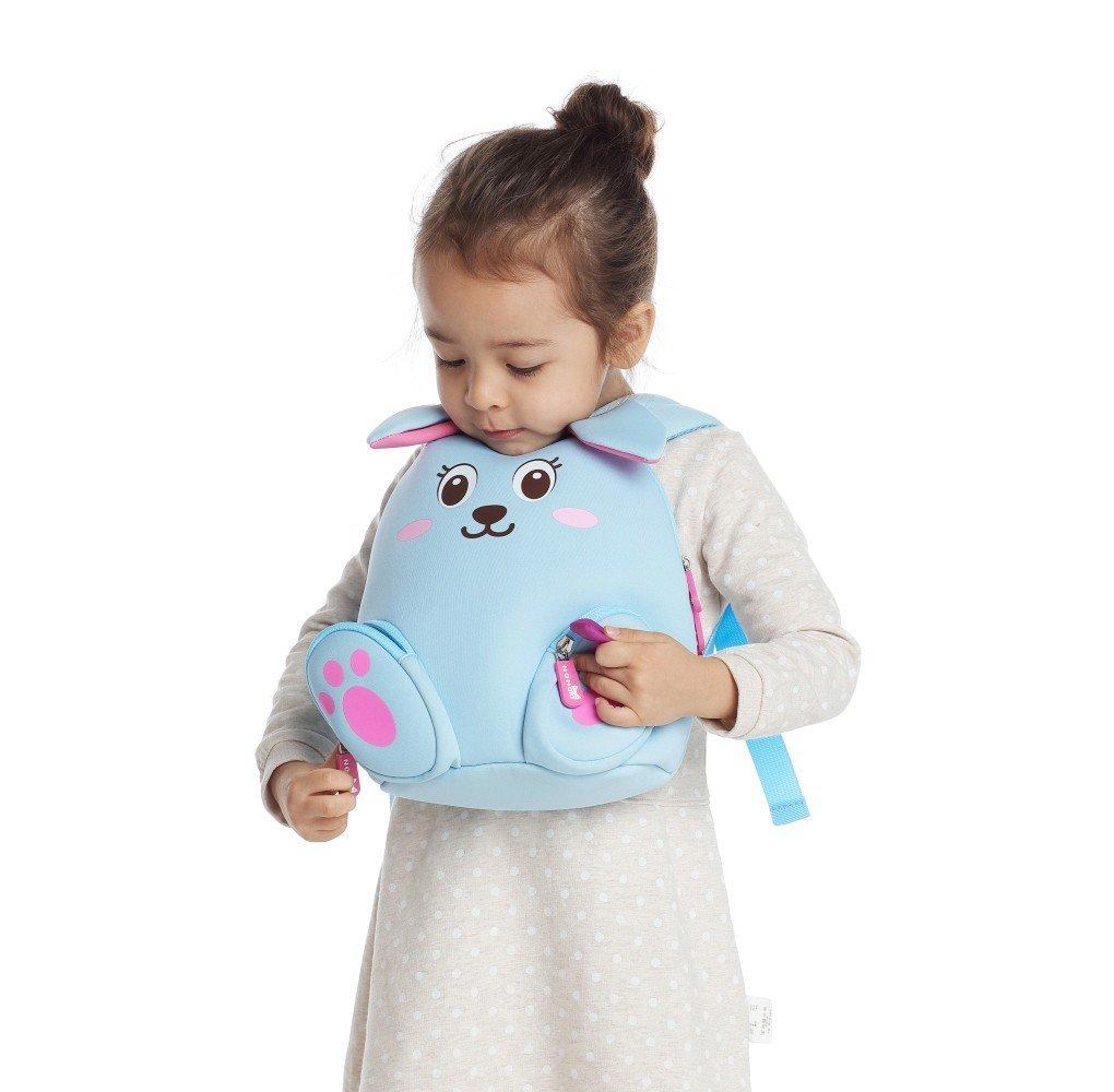 Nohoo Children Products-Nh044 Blue Rabbit Neoprene Kids Cartoon Backpacks For Children-5
