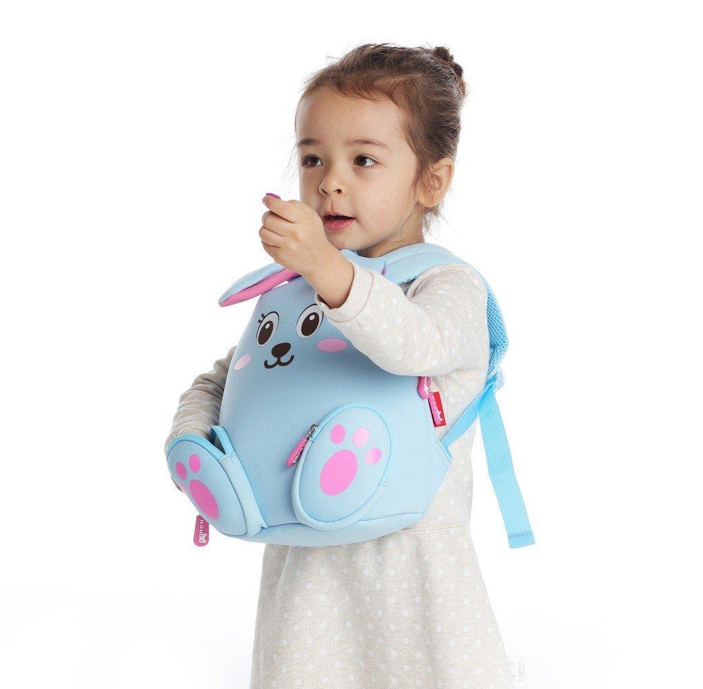 Nohoo Children Products-Nh044 Blue Rabbit Neoprene Kids Cartoon Backpacks For Children-6