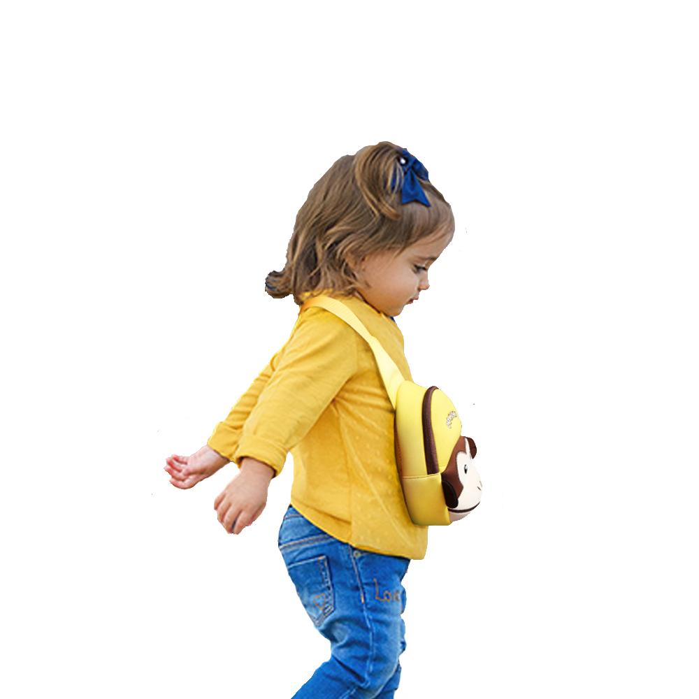 Nohoo Children Products-Kids Neoprene Waterproof Cute Animal Monkey Style Lightweight Chest Bag-3