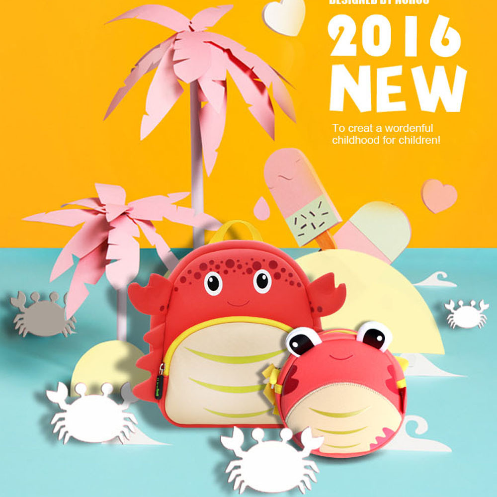Nohoo Children Products-Neoprene High Quality Crab Lightweight Kids Sling Bag For Kids-5