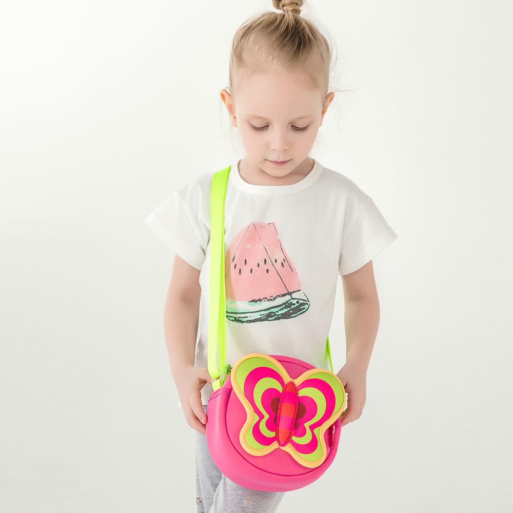 Nohoo Children Products-Lovely Butterfly Cartoon Lightweight Kids Messenger Bag For Girls-4