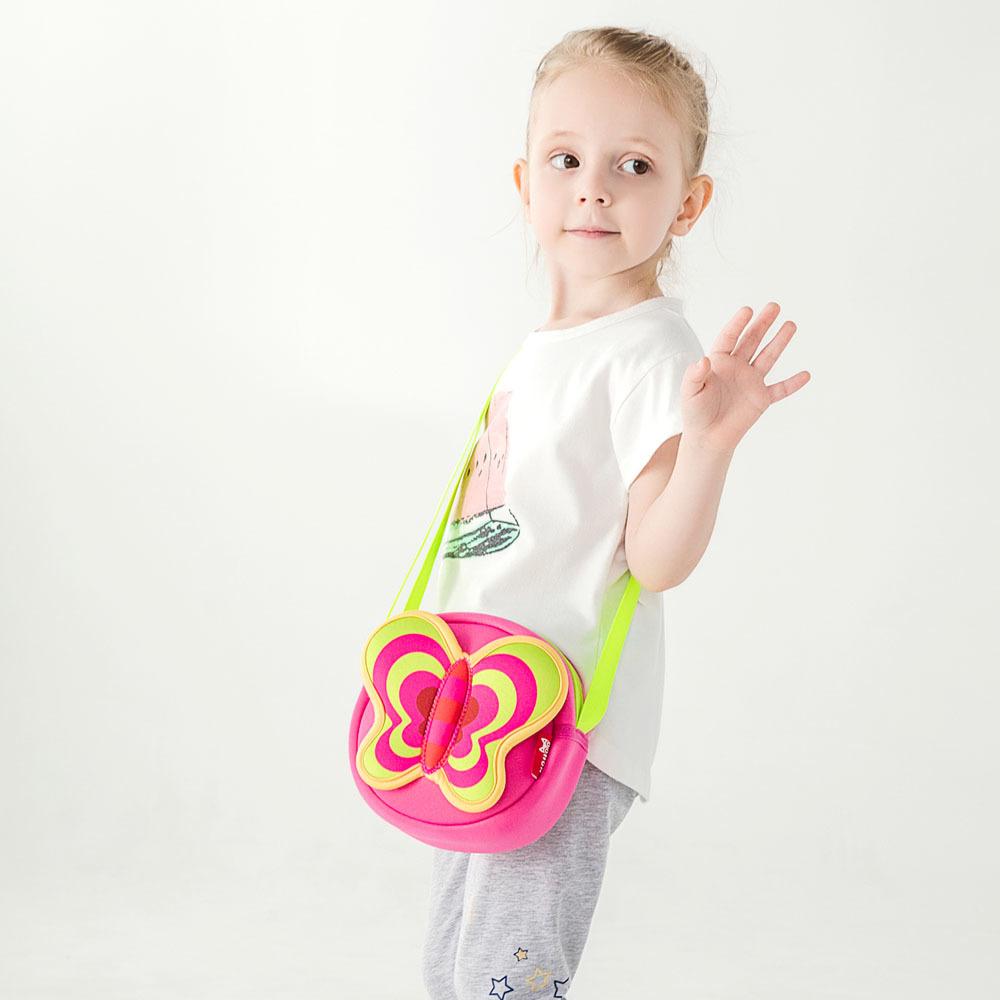 Nohoo Children Products-Lovely Butterfly Cartoon Lightweight Kids Messenger Bag For Girls-5