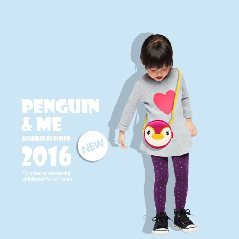 Nohoo Children Products-Lovely Penguin Children Mini Outdoor Sports Kids Animal Messenger Bag-4