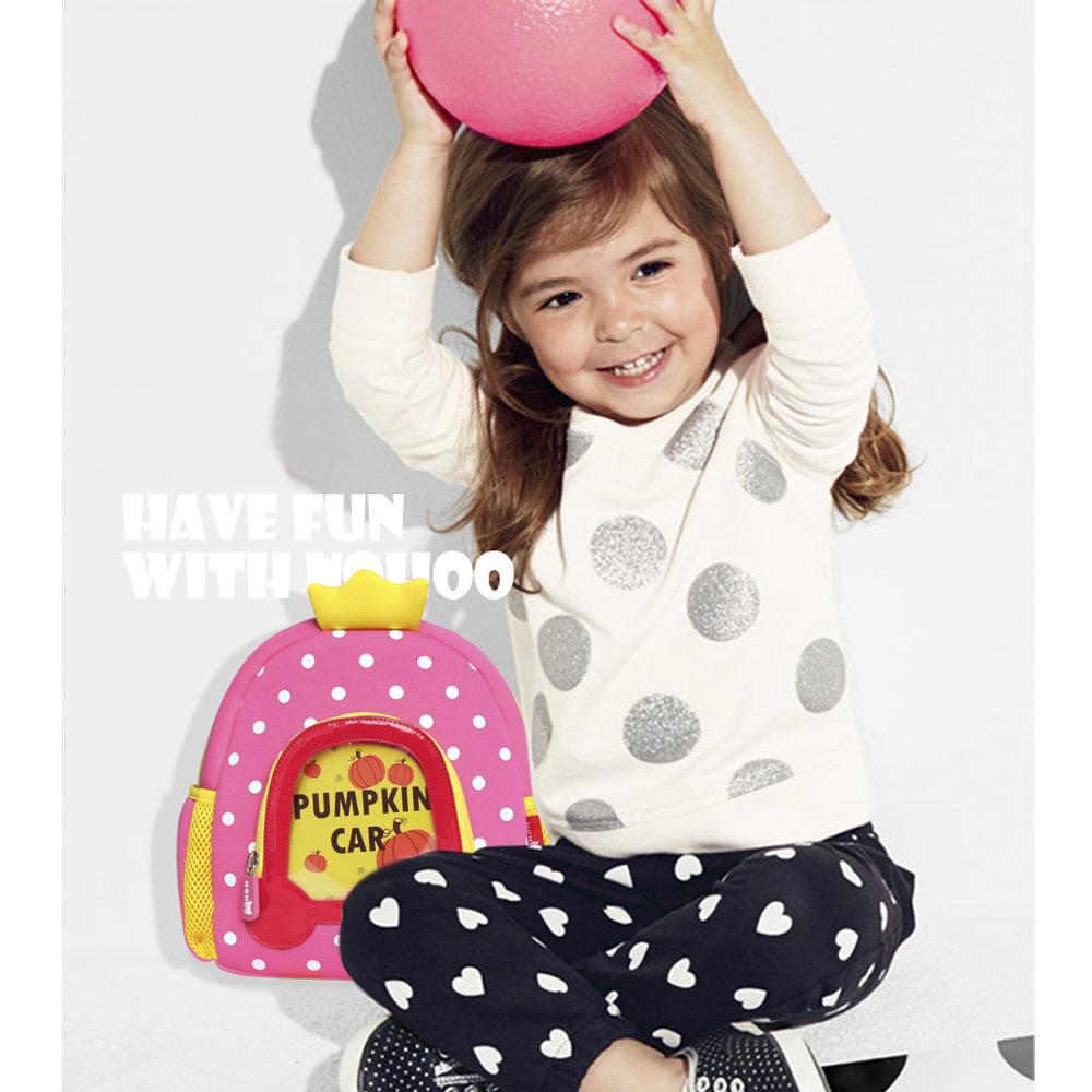 Nohoo Children Products-Lovely Design Cartoon Kids Backpack Neoprene Kindergarten Bag For Girls-3