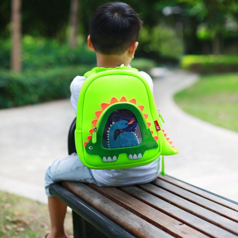Nohoo Children Products-Hot Sell Neoprene Children Backpack Top Quality Dinosaur Kindergarten-5