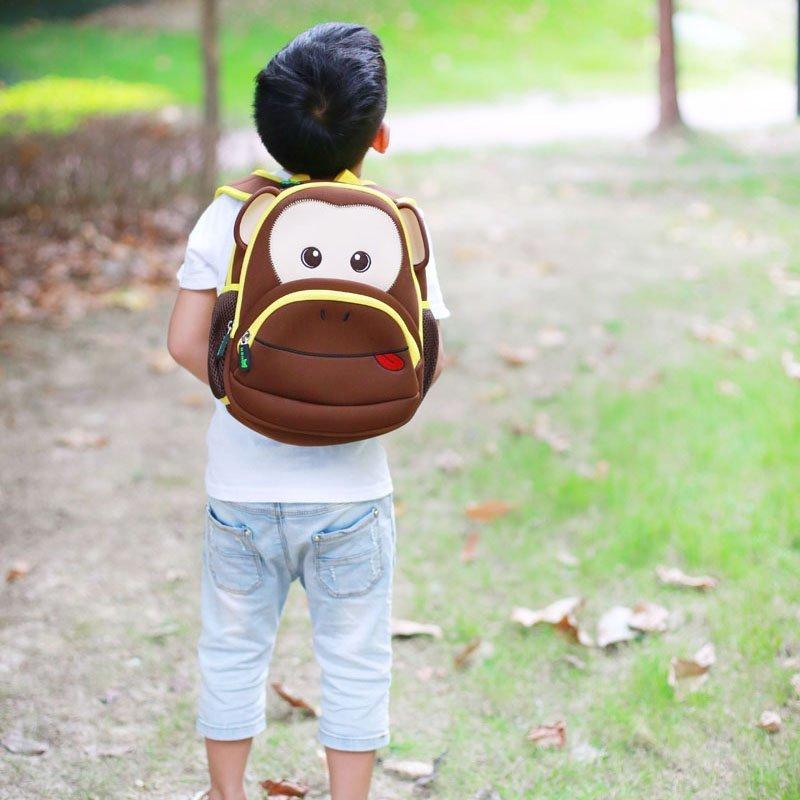 Nohoo Children Products-Find Neoprene Kid Backpack Cute Zoo Animal Monkey Cartoon Bag For Boys-5