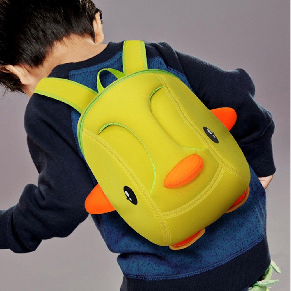 Nohoo Children Products-Cartoon Kids Daily Bag Duck 3d Shape Kindergarten Bag For Children-4