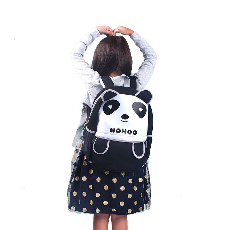 Nohoo Children Products-Neoprene Lovely Style Kids Bag 3d Panda Children Hiking School Bags-4