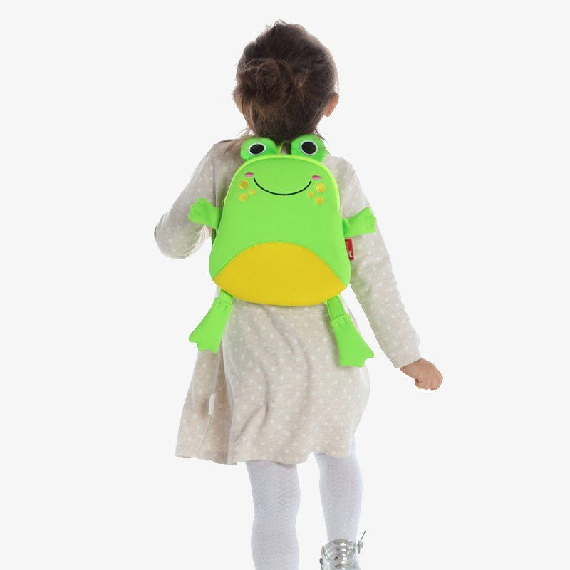 Nohoo Children Products-Nh056 Lightweight Small Backpack Animal Shape Cute Frog Bag For Little-3
