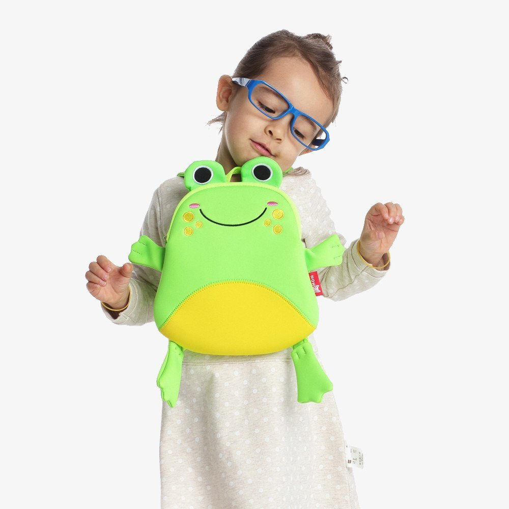 Nohoo Children Products-Nh056 Lightweight Small Backpack Animal Shape Cute Frog Bag For Little-4