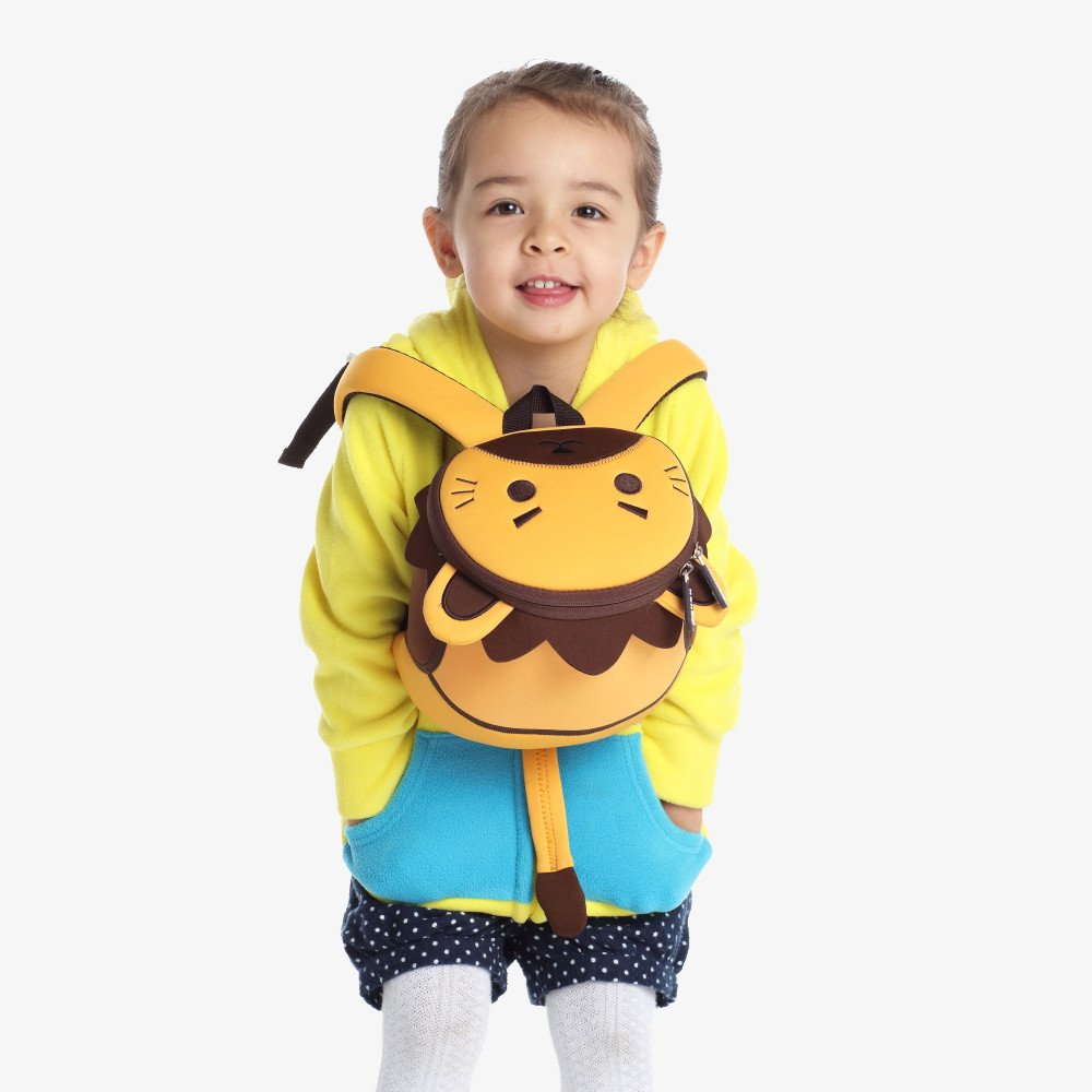 Nohoo Children Products-Nh053 Lion Cute Soft Bags Cartoon Anti Lost Children 3d Bag With Rope-3