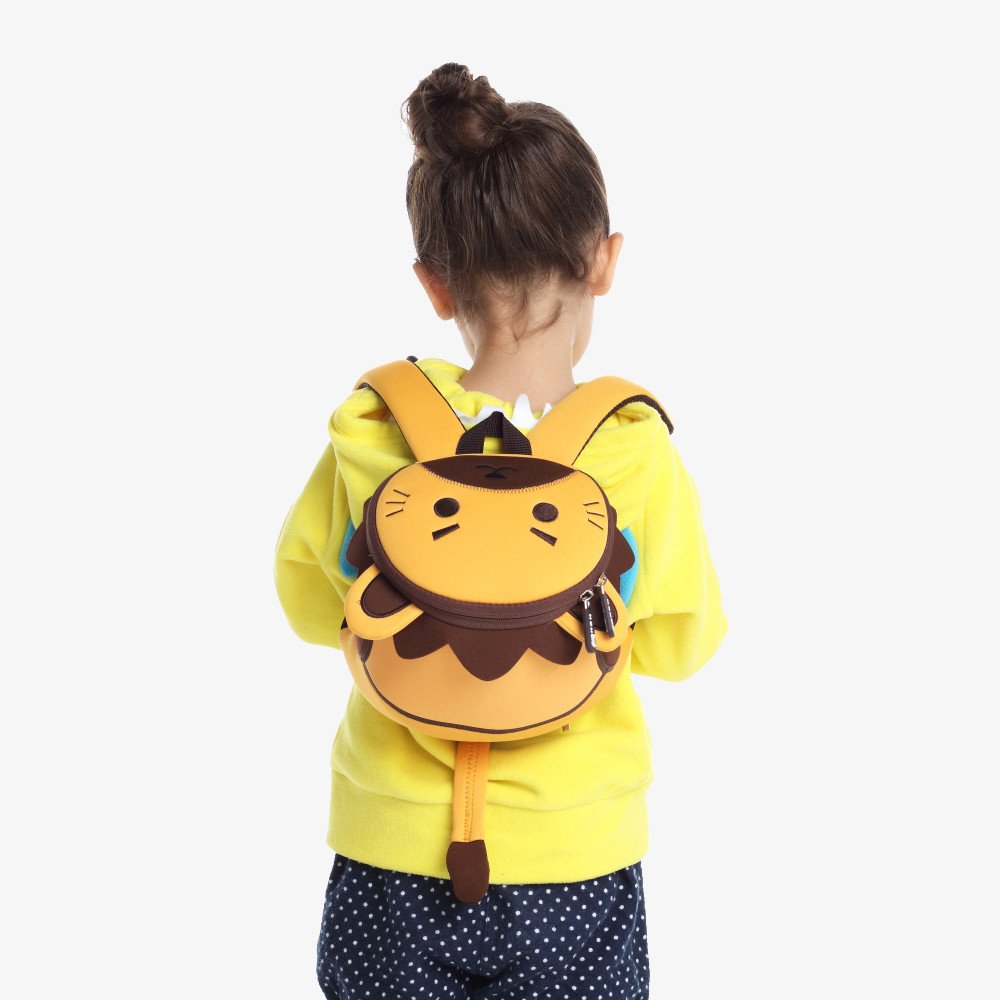 Nohoo Children Products-Nh053 Lion Cute Soft Bags Cartoon Anti Lost Children 3d Bag With Rope-4