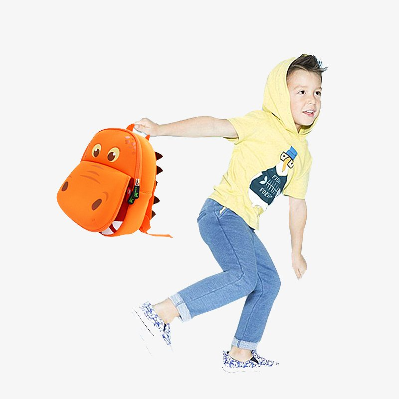Nohoo Children Products-Nh028 Hippo Outdoor Kids Backpack Children School Bags For Kids-3