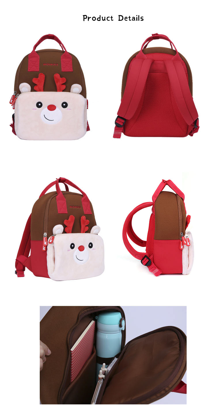 Nohoo Children Products-Nhq007 Neoprene Animal Parent-child Travelling Family Backpack
