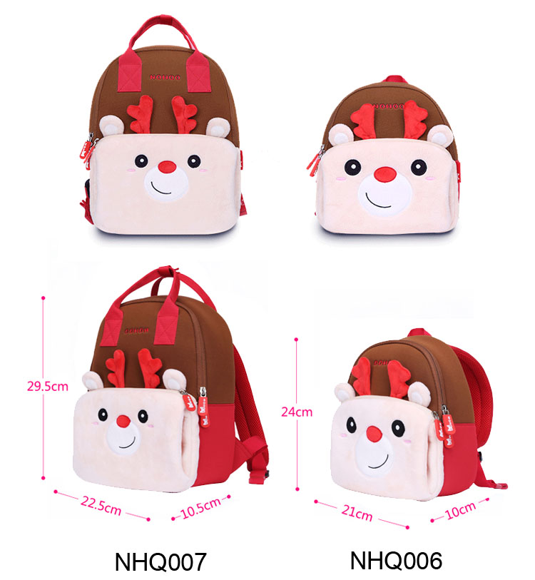 Nohoo Children Products-Nhq007 Neoprene Animal Parent-child Travelling Family Backpack-3