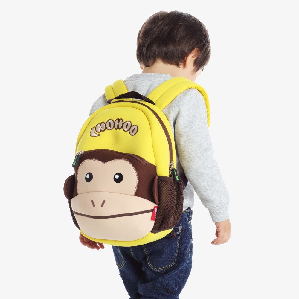 Nohoo Children Products-Nh021 Funny Monkey Style Waterproof Neoprene Lovely Backpack For Kids-3