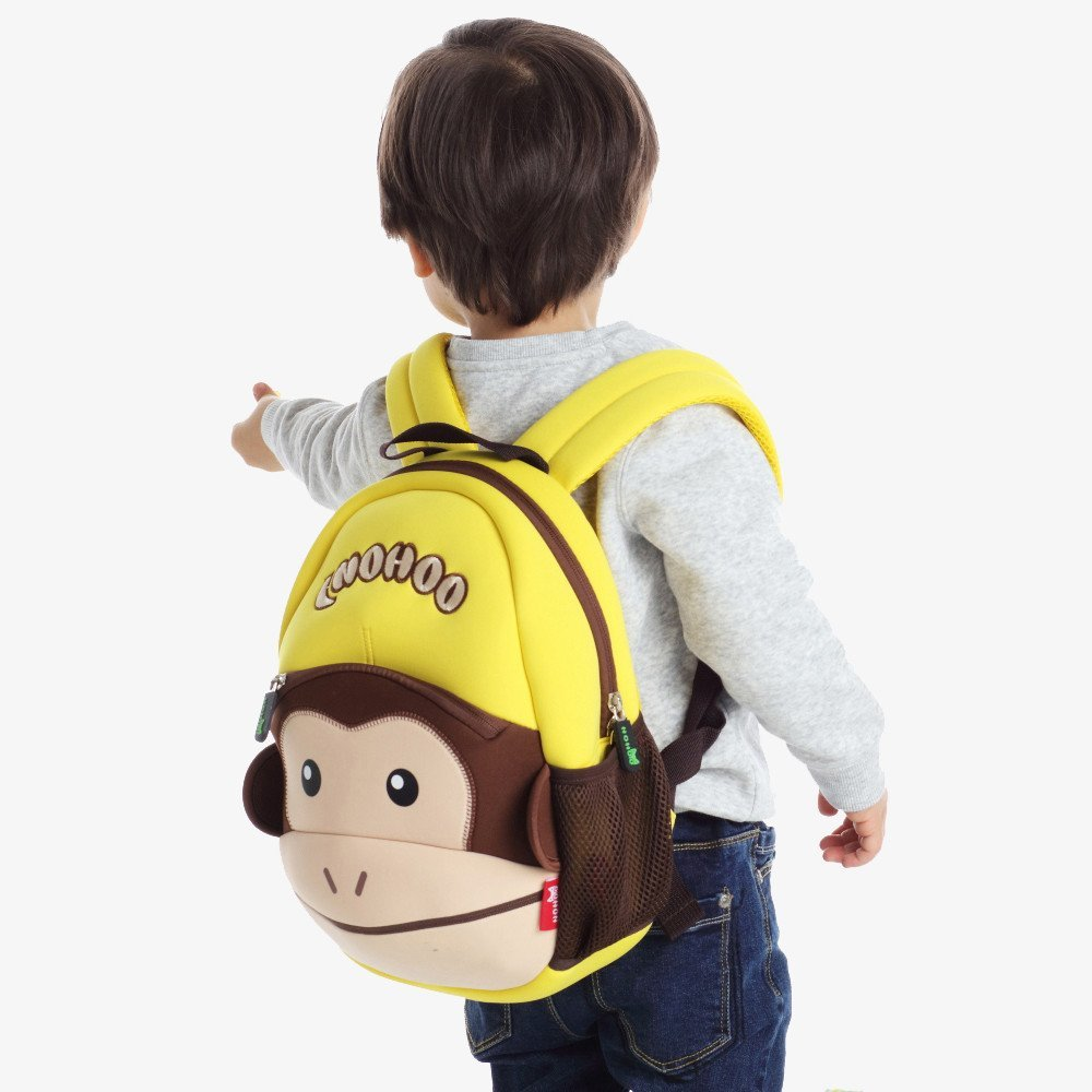 Nohoo Children Products-Nh021 Funny Monkey Style Waterproof Neoprene Lovely Backpack For Kids-4