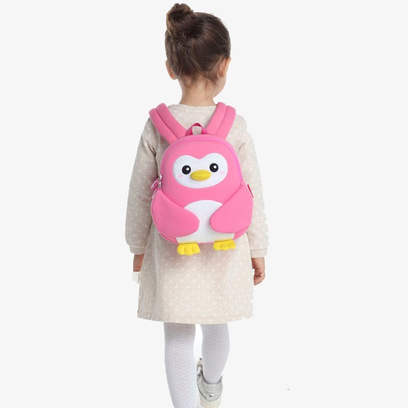 Nohoo Children Products-Nh065 Penguin Little Kids School Bag Lightweight Plush Toddler Backpack-4