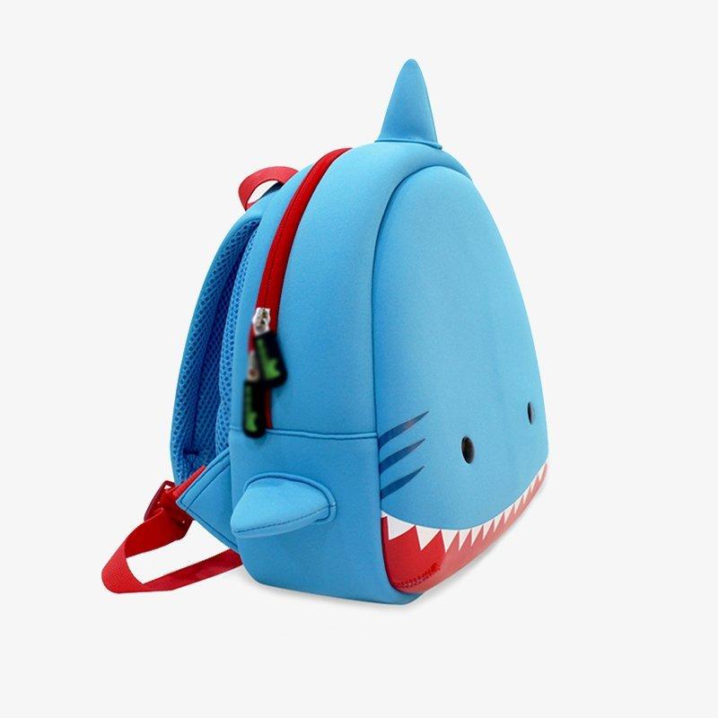 Nohoo Children Products-High Quality Nh033 3d Shark Kids Backpack Cartoon Children Schoolbag-3