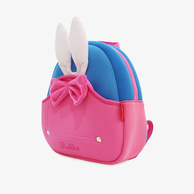 Nohoo Children Products-Nh031 Neoprene Eco Friendly Toddler Backpack 3d Rabbit Backpack For Girl-4
