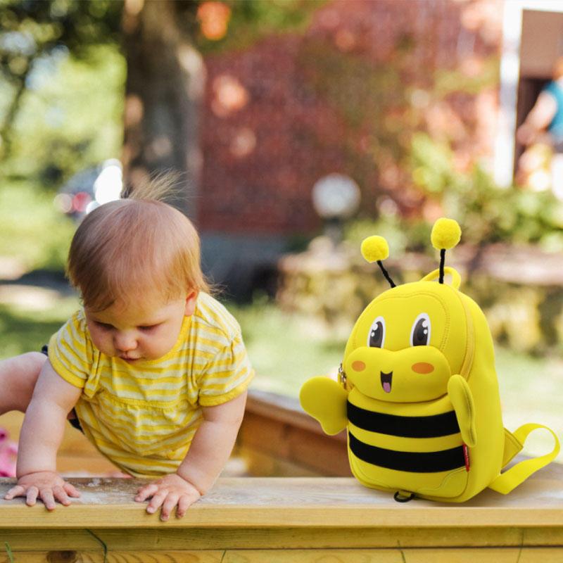 NHB140 Nohoo new arrival bee style kids backpack for kindergarten