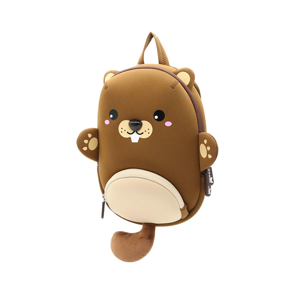NHB208 new item brown bear Kids waterproof neoprene animal kindergarten backpack