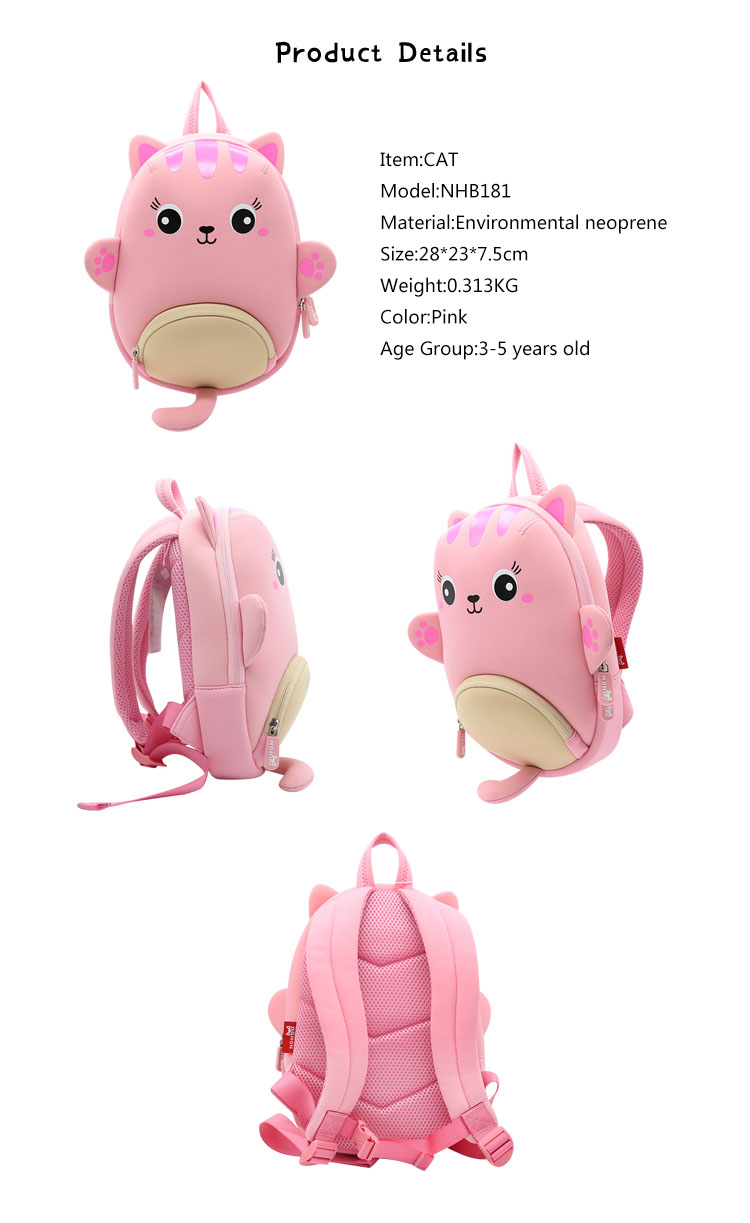 Nohoo Children Products-Animal Toddler Kids Backpack For Little Girls