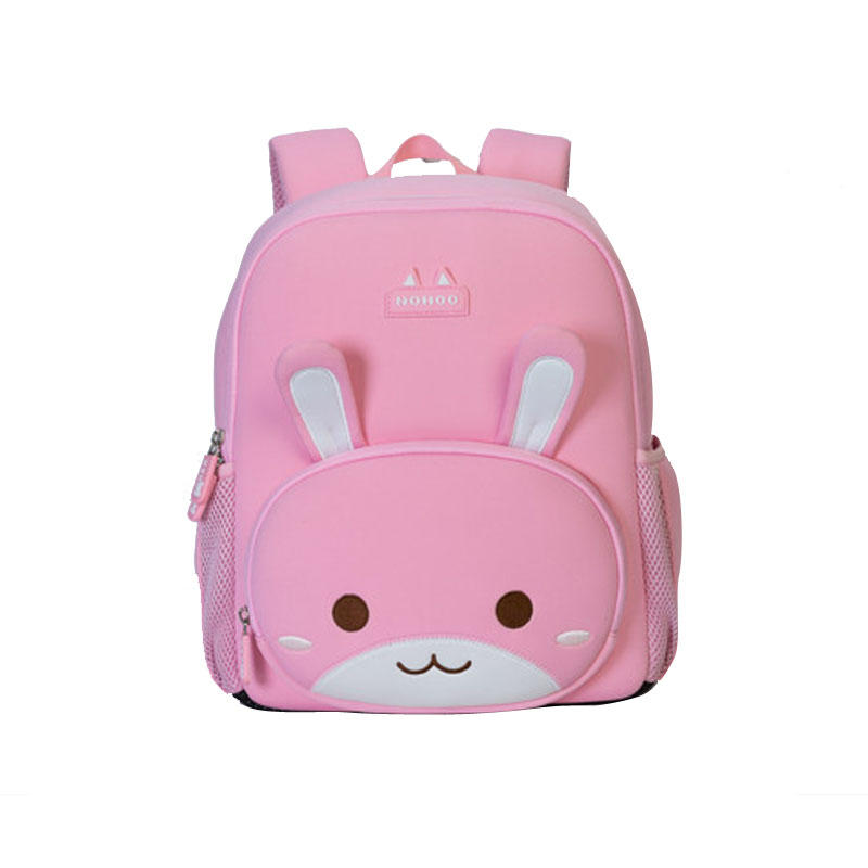 NHB042XL new arrival pink rabbit animal waterproof children school bag for girls.