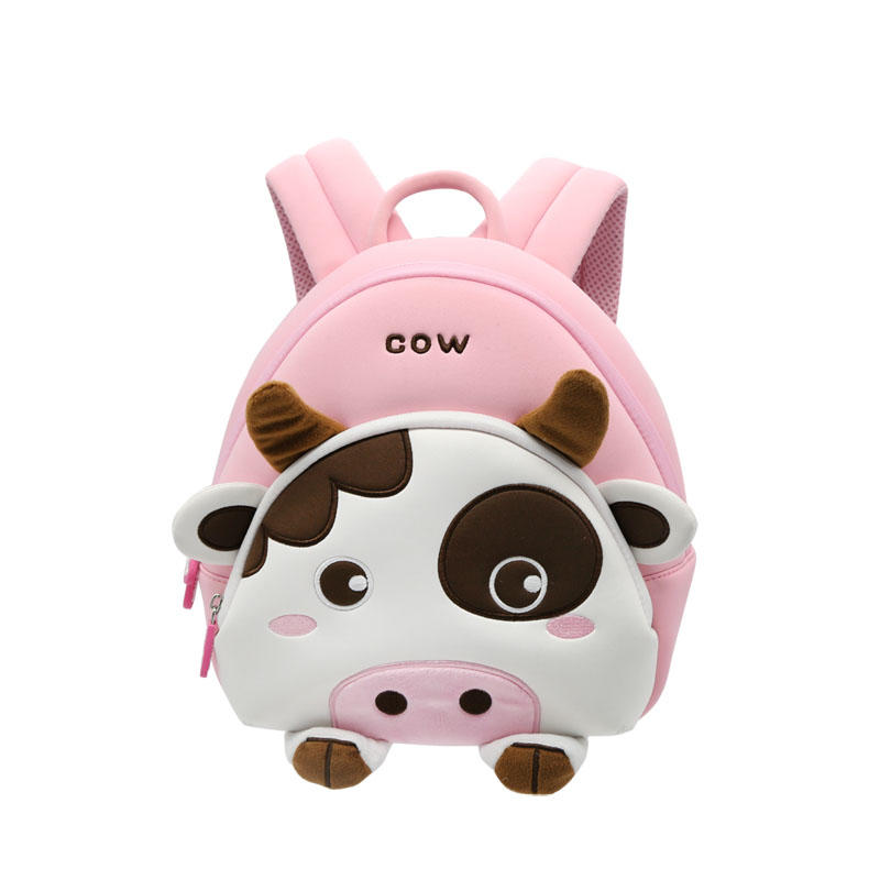 NHB146 new design cute cow lightweight neoprene kids animal backpack factory