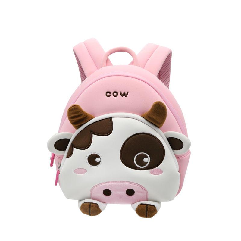 NHB146 new design cute cow lightweight neoprene kids animal backpack factory