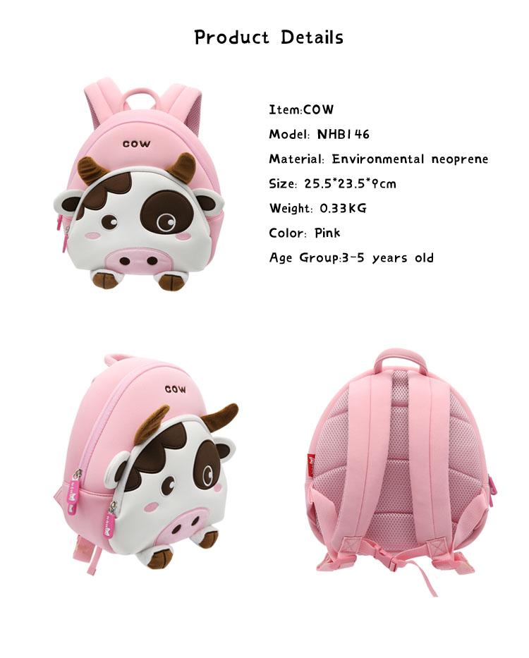 Nohoo Children Products-High-quality Neoprene Bag | Nhb146 New Design Cute Cow Lightweight Neoprene