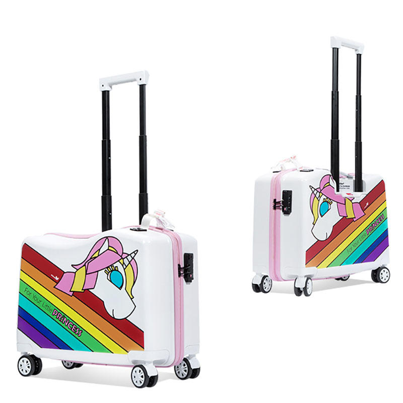 NHL021-6 Nohoo PC children trolley case scooter hard case cartoon luggage 20 inch