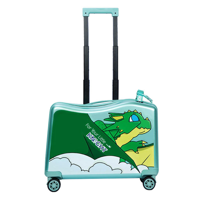 NHL021-7 high quality PC 20 inch kids scooter trolley case 3D cartoon travlling universal wheel  suitcase