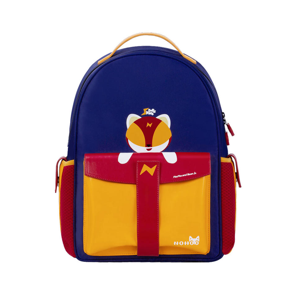 NHZ021-14 Nohoo 2019 original innovative rocket series PU and Polyester primary school bag for students