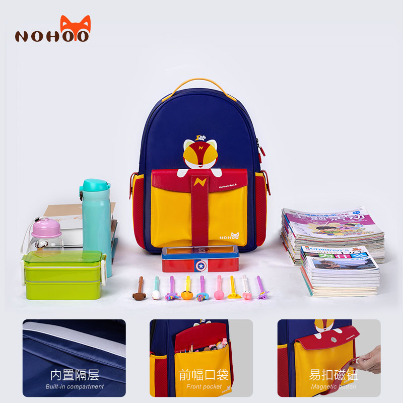 Nohoo Children Products-Custom Kids School Bags With Wheels Manufacturer, Purple Kids Backpack-1