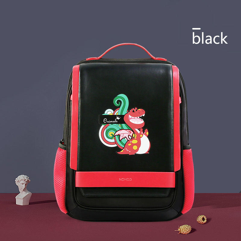 NHB320 high quality PU polyester Cartoon School Bag Cute Animal Kids Shoulder student travel bags