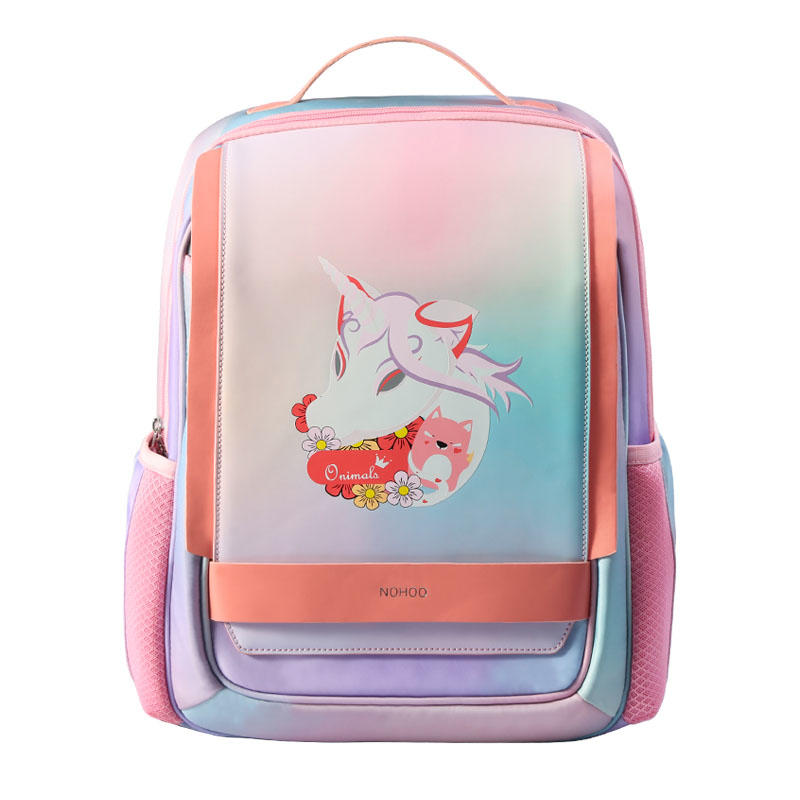 NHB320 high quality PU polyester Cartoon School Bag Cute Animal Kids Shoulder student travel bags