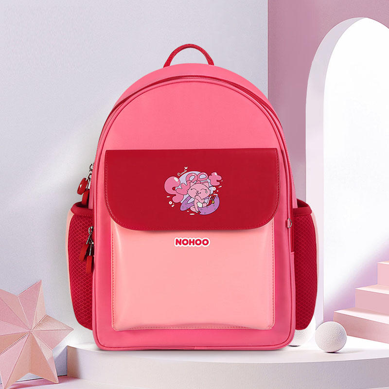 NHB326 Nohoo PU polyester Waterproof Child Book Bag Durable School Bags for Student